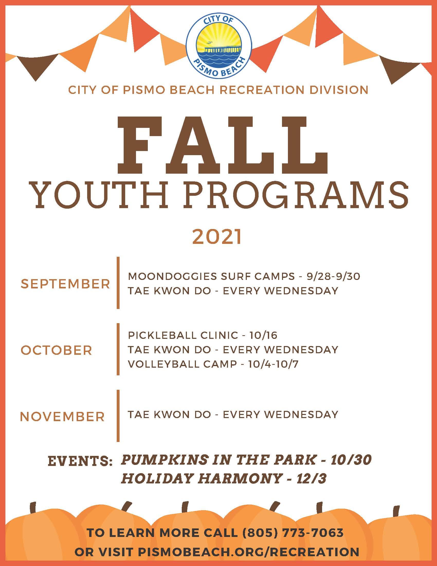 Peachjar Fall Youth Programs 2021 Flyer_Page_1